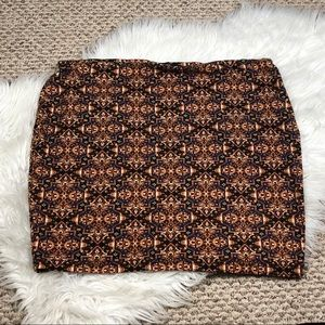 SOLD ❗️Forever 21 Brown Aztec Skirt
